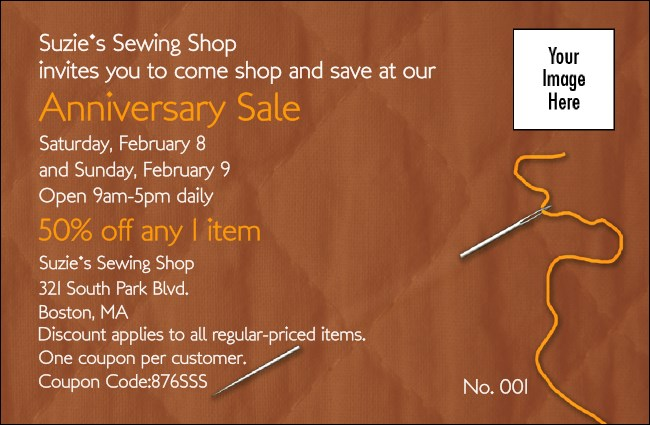 Quilting and Sewing Coupon 1