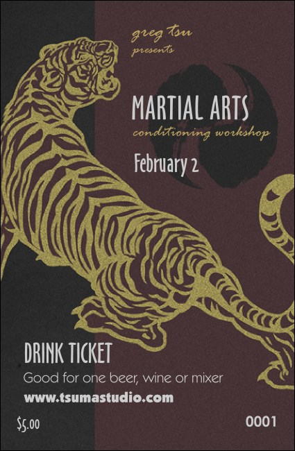 Martial Arts Drink Ticket