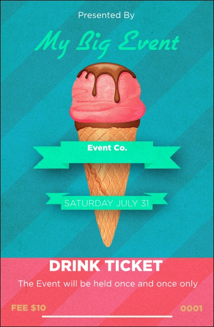 Ice Cream Drink Ticket